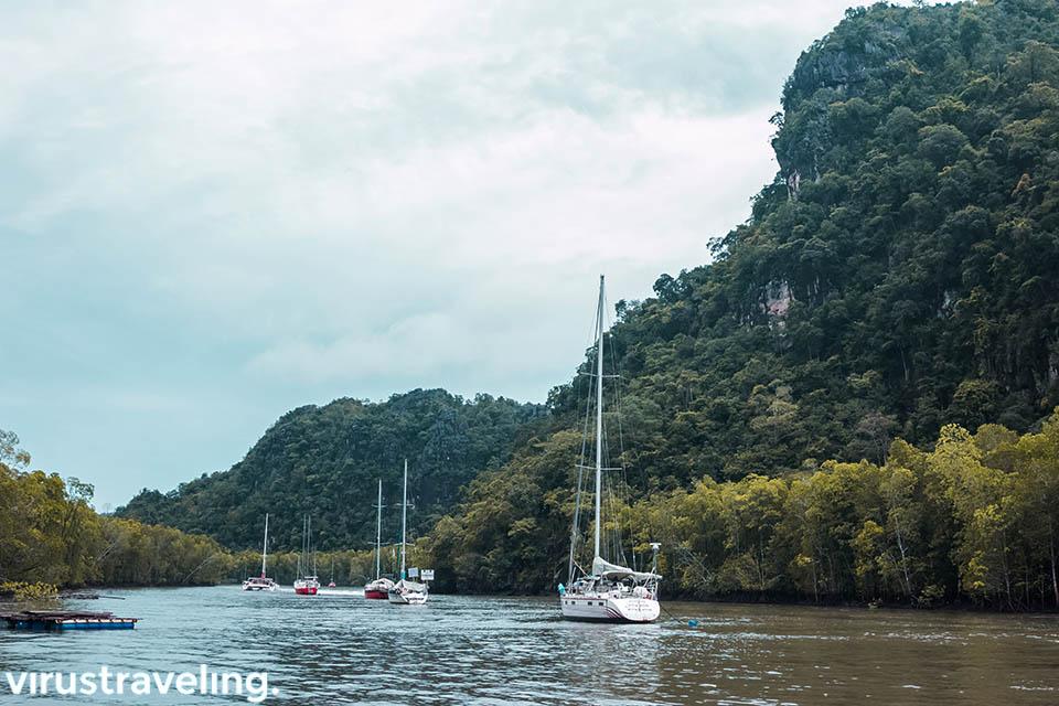 Yacht di Kilim Geoforest Park