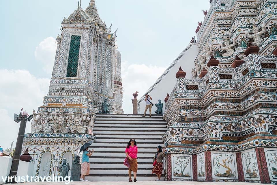 Itinerary Bangkok mengunjungi Wat Arun
