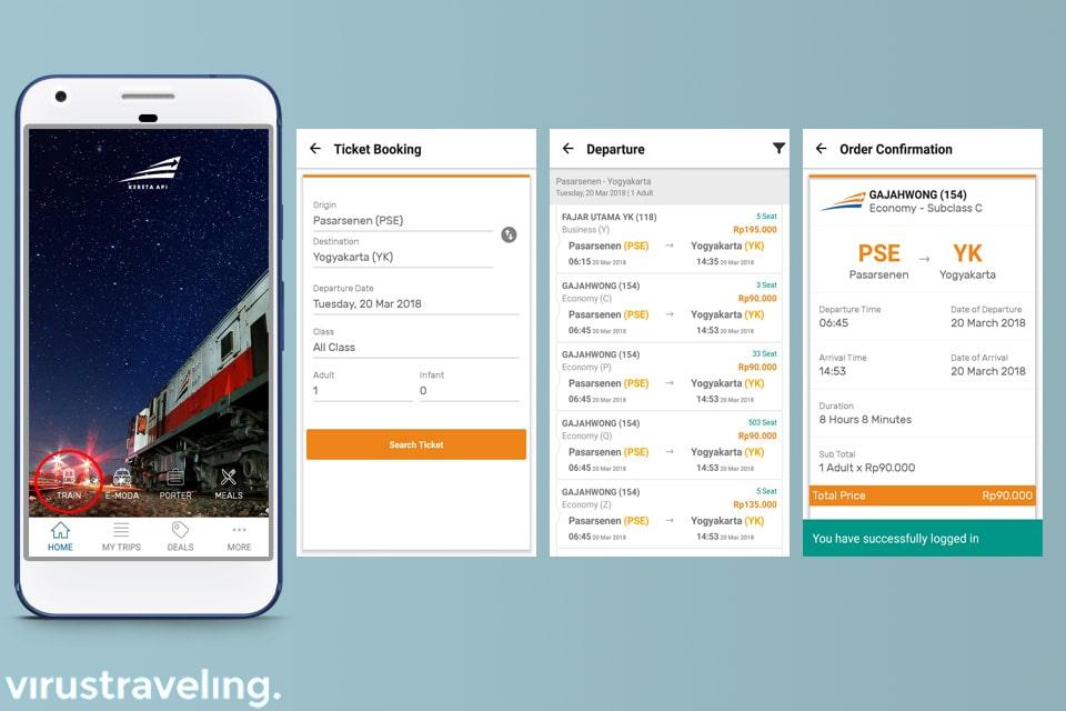 KAI Access Cara Memesan Tiket Kereta Online