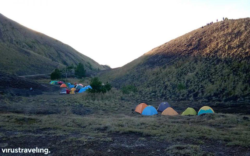 Lokasi camping di Batur jalur Culali