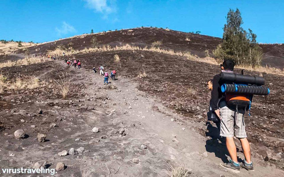 Salah satu jalur pendakian via Culali