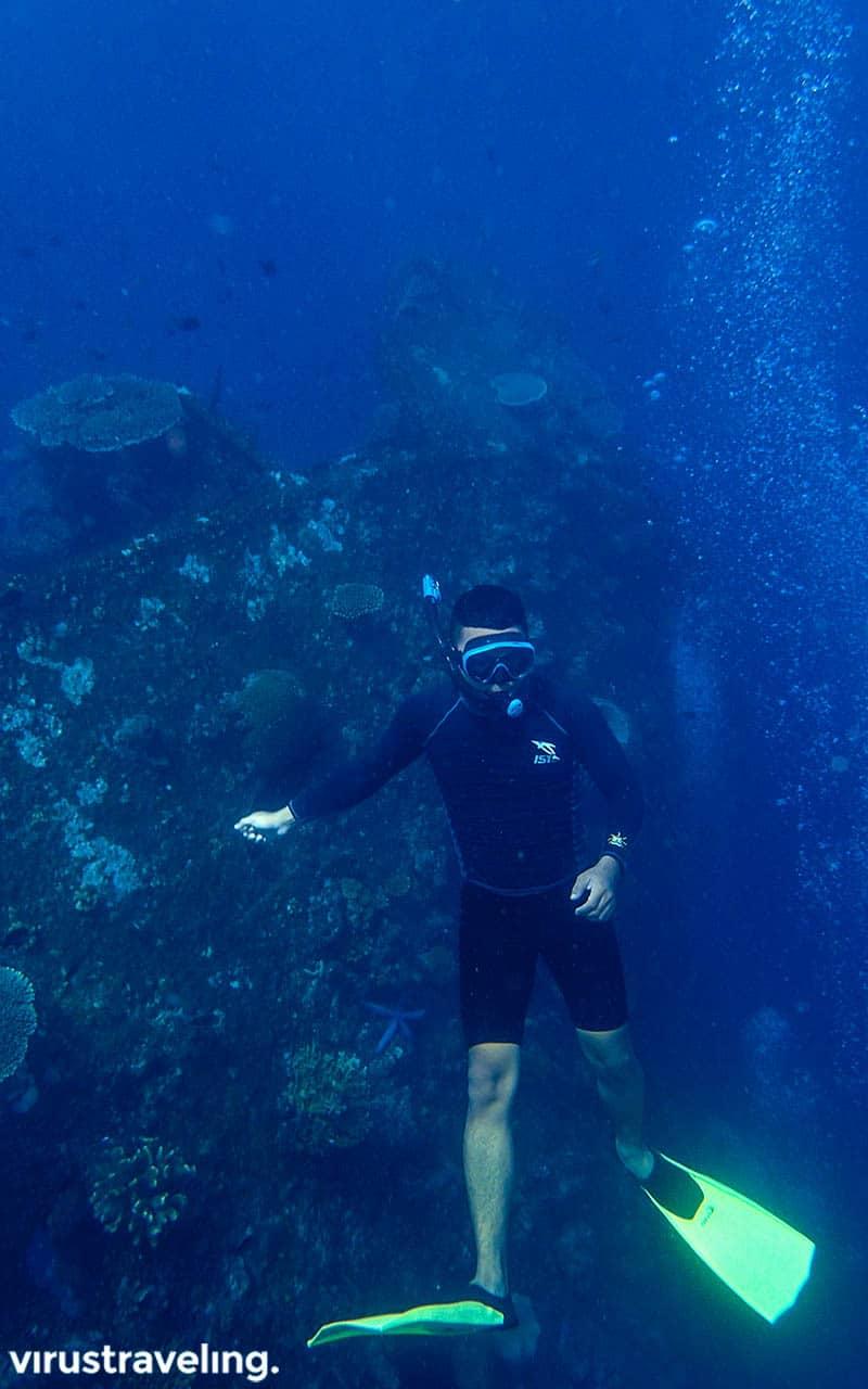 Free diving di USS Liberty Shipwreck